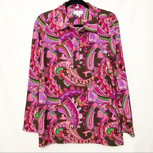 Jude Connally Paisley Collared Tunic